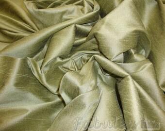 Tarragon Shantung Dupioni Faux Silk fabric per yard
