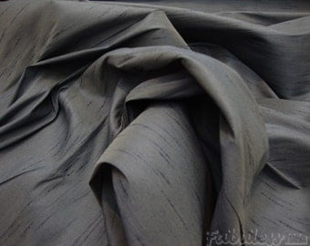 40 yards Charcoal 50yds of Tarragon  Shantung Dupioni Faux Silk fabric
