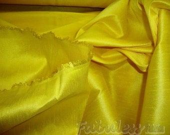 Maize   Shantung Dupioni Faux Silk fabric per yard