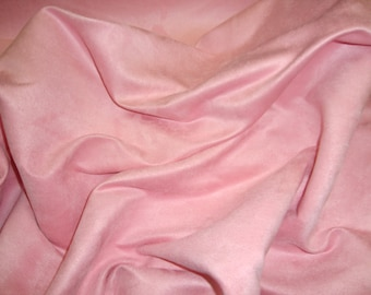 """Pink Polyester micro faux suede upholstery fabric by the yard 60"""" Wide"""