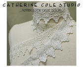 6 yd.white  lace venise lace trims  jewelry bridal  diva wedding victorian jewelry collar cuff design Catherine Cole Studio