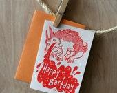 Happy Barfday-- Cute monster birthday card