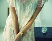 1920s Sillhouette Flower Print Dress