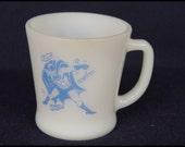 Vintage Fire King D handle Coffee Mug Batman Comic Robin Pyrex