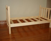USA Handmade Solid Wood Doll Bed fits American Girl