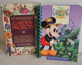 Vintage Walt Disney Seed Marker Set with 2 Gardening Books