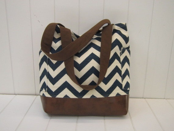 Custom Listing for we129 - Do not purchase if you are not wei129  .Cotton Slub Tote brown/teal/ecru/large tote/diaper bag
