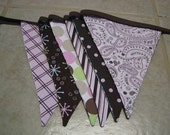 ONLY ONE.....Ready to Ship, 7 Ft 6 Large Flags, REVERSIBLE, Girl/Boy Flag Banner