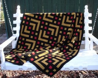 A-Maze-ing Crochet Afghan Pattern