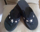 Cowgirl Flip Flops with Silver Stars