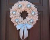 Baby Boy Burlap Wreath