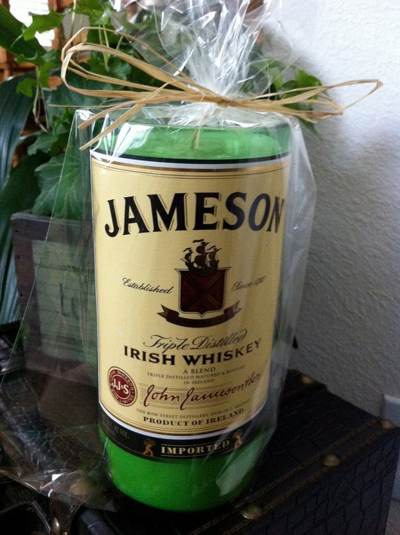 Candle large Recycled Liquor Bottle Jameson Whisky 1 ltr bottle