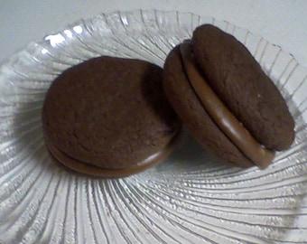 Kahlua Sandwich Cookies (12 cookies)