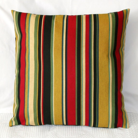 CLEARANCE- Dark Stripes Pillow Cover 18x18 inches- Zipper Closure