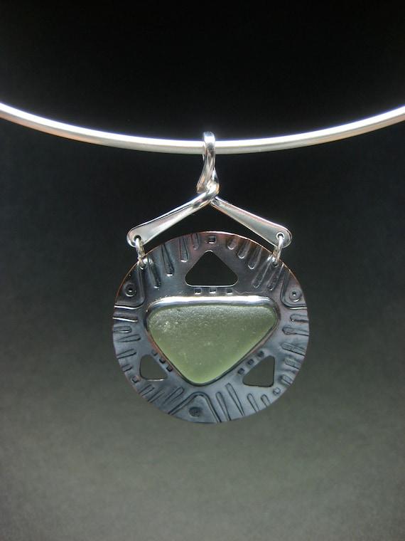 Seaglass Artifact Pendant