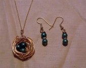 Nest earrings or necklace