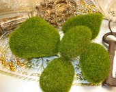 Green FauX Moss Rocks - Balls - Supplies - Plants - Pots