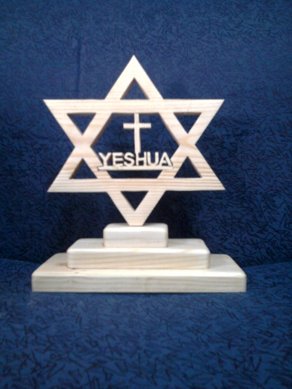 Star of David with Yeshua as the center peace