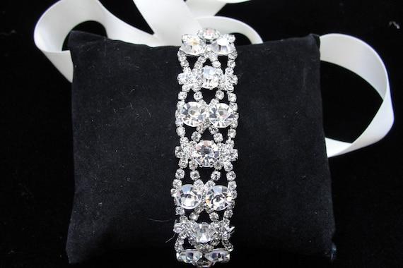 JOY Swarvoski wedding bridal bracelet