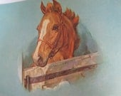 Artist Signed Lithograph- Vintage Equestrian Art  Print HOLIDAY SALE