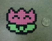 Super Mario Bros Fire Flower Pink Tulip Fridge Magnet Nintendo NES 8-Bit Art