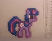 Twilight Sparkle My Little Pony Brony Magnet 8-Bit Purple Unicorn