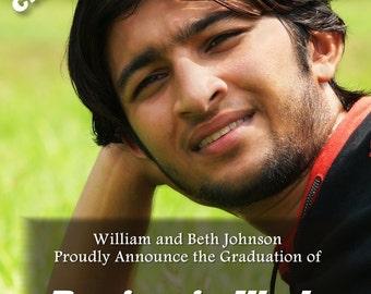 Photo Graduation Announcement or Invitation Customizable Printable