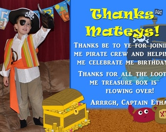 Pirate Thank You Card Customizable Printable