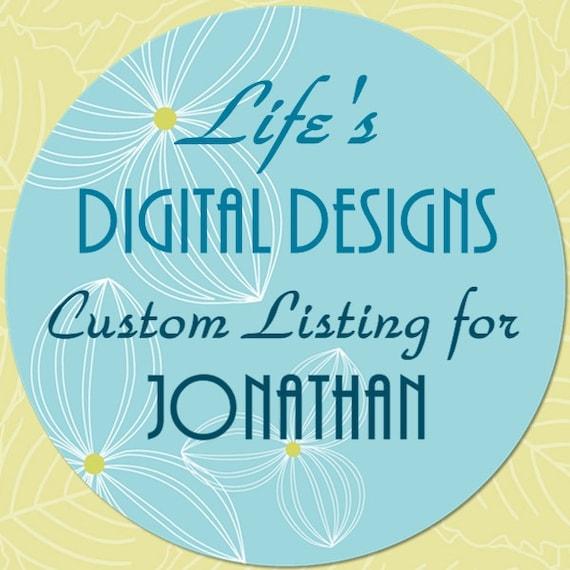 Custom Listing for Resize of Invitation for Jonathan