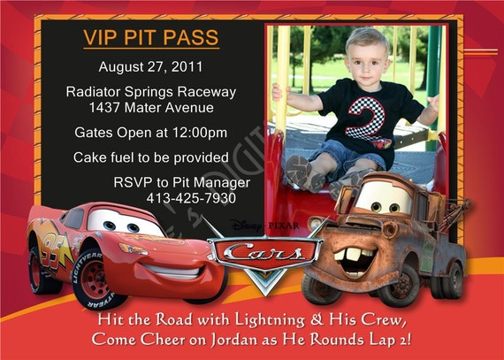 Cars Invitation Card Template Free: Cars Birthday Invitations Lightning McQueen By