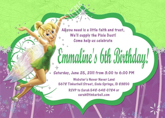 Blank party invitation jcmanagement blank party invitation tinkerbell bookmarktalkfo Choice Image