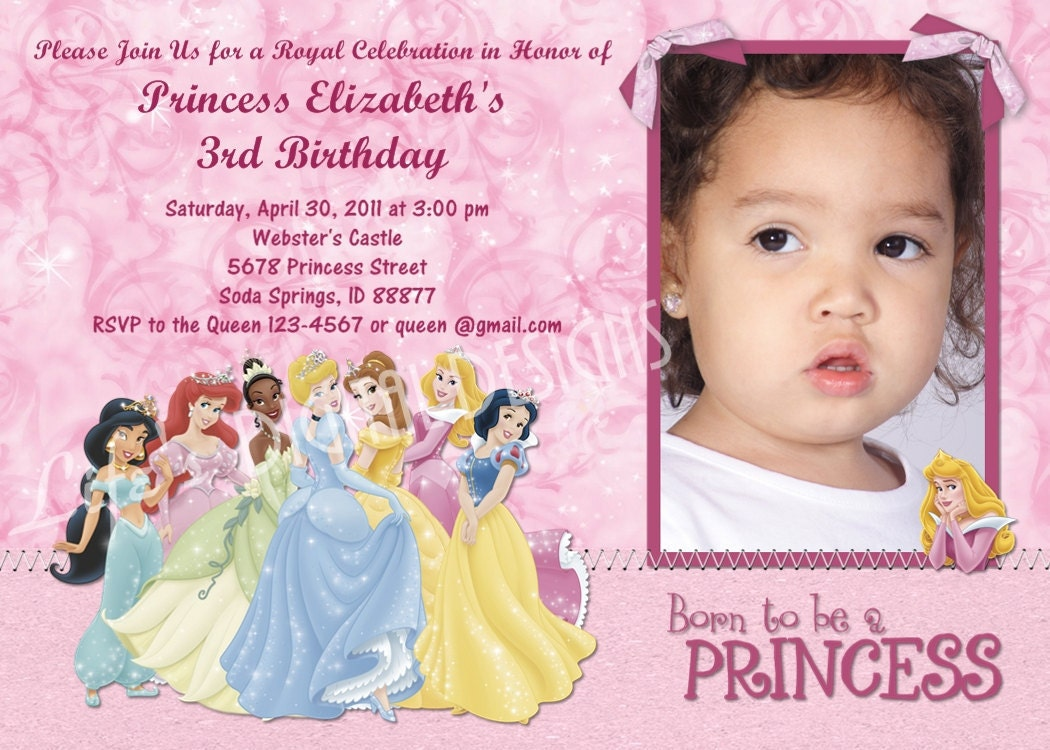 disney princess birthday invitations gangcraft net disney princess birthday invitation photo by lifesdigitaldesigns birthday invitations