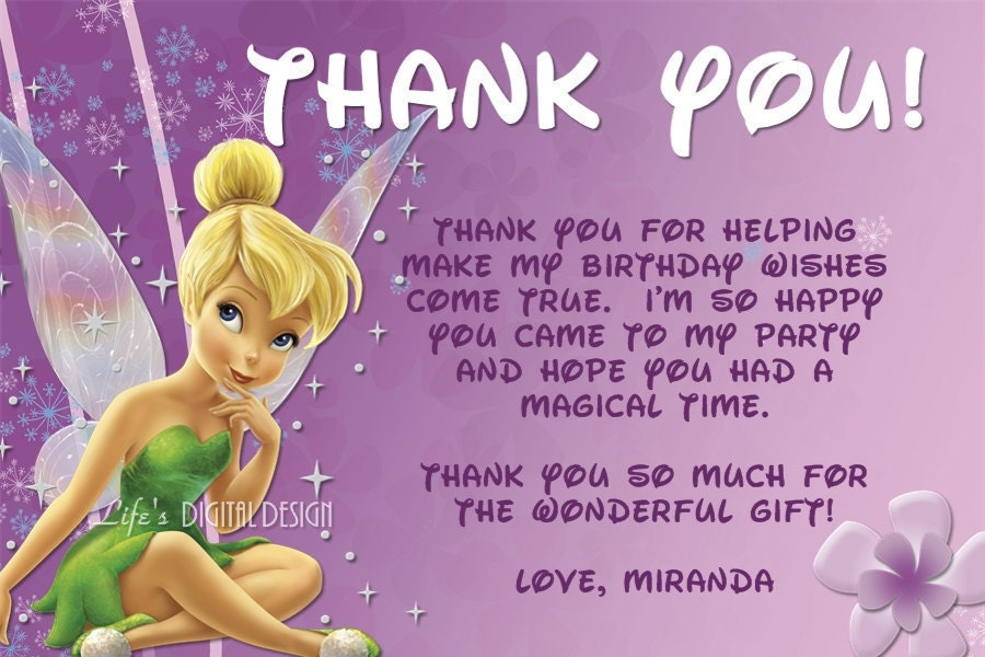 Tinker Bell Invitation was beautiful invitation sample