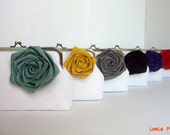 Cotomized Detachable Linen Flower or Cute Bow - Multi Colour