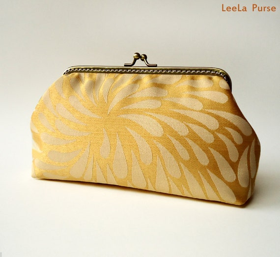 Clutch - Elegant Daisy Golden Sunset LeeLa Purse