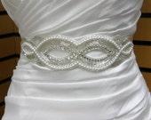 Beaded Swirl Bridal Belt or Sash