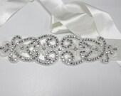 Rhinestone Diamante Bridal Belt or Sash