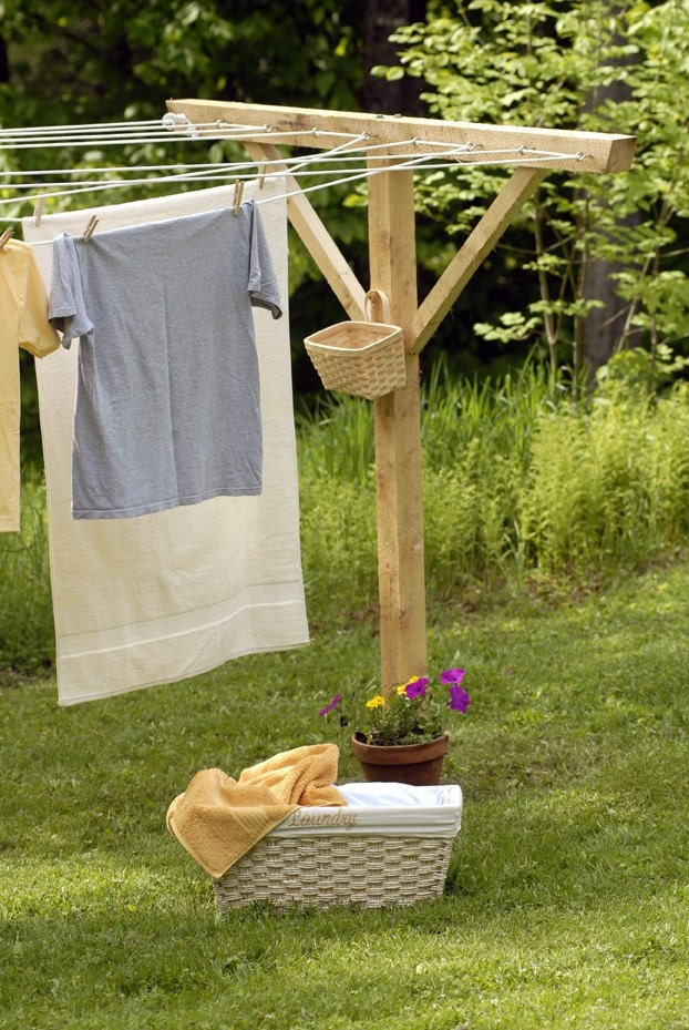 Handmade Wooden Clothesline Pole Kit By WindyHillsCompany