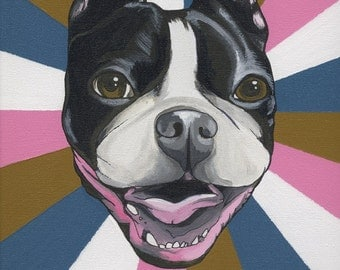 Custom Dog Portrait 24X30 cm ( 9.4 X 11.8 inches)