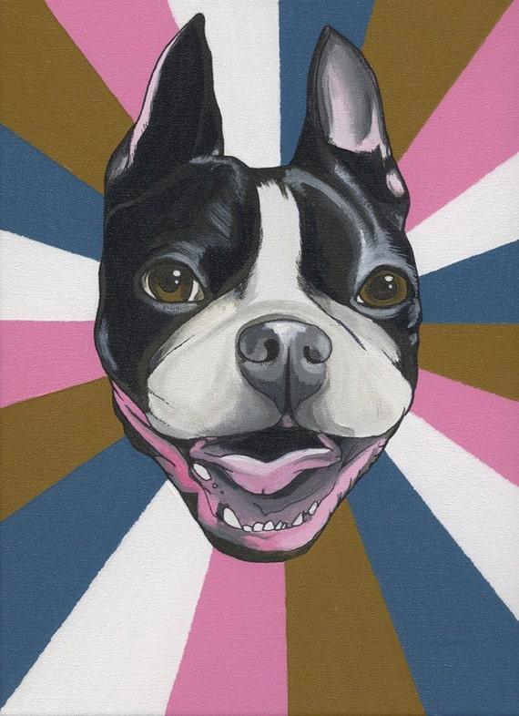 Custom Dog Portrait 30X30 cm ( approx. 11.8 x 11.8 inches)