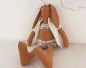 Rabbit Doll Bunny. Brown Yellow White in  Bikini