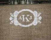 Personalized Burlap Wedding Table Runner- decor for farm, beach, woodland weddings and eco friendly home decor