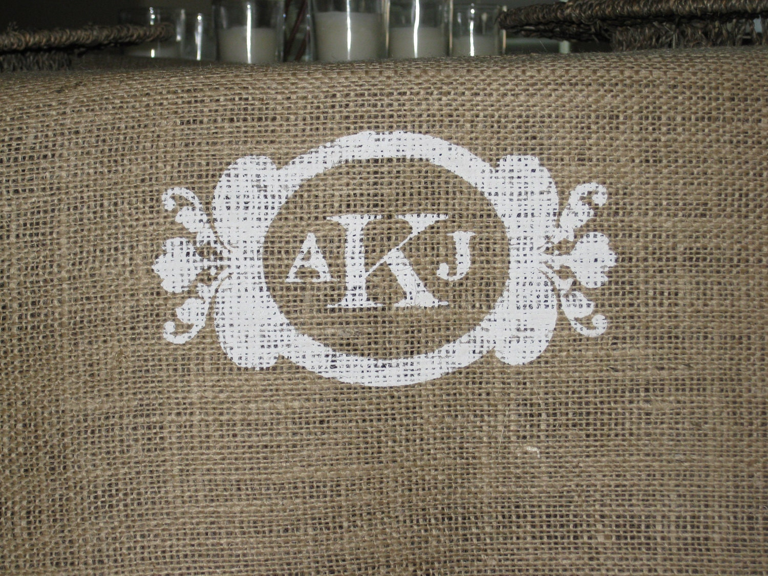 Personalized Burlap Wedding Table Runner by KraftyCounsel on Etsy