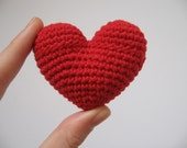 crochet heart red red red love gift