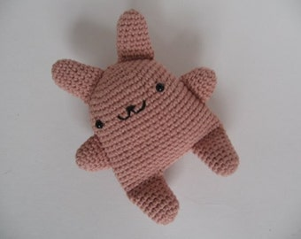 Super Kawaii Crocheted Bunny No.10 - Capuccino