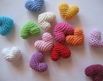 3 Crocheted Mini Hearts