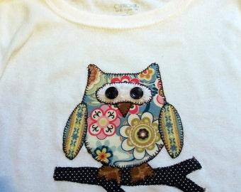 Chidren's Owl T-Shirt Customized for a Boy or Girl