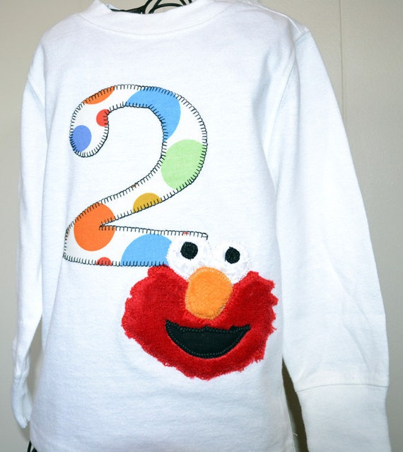 Toddler Monster Birthday Shirt 1st, 2nd, 3rd- Any Birthday Appliqued Number Shirt 1 2 3 4 5 Custom Children's Clothing Infant to Big Kids