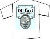 Ol' Fart Surfboards t-shirt. Awesome birthday gift for the senior surfer or beach lover, cotton, XXL, FREE SHIPPING