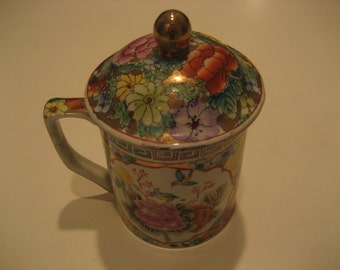Cup With Lid, Hand Painted